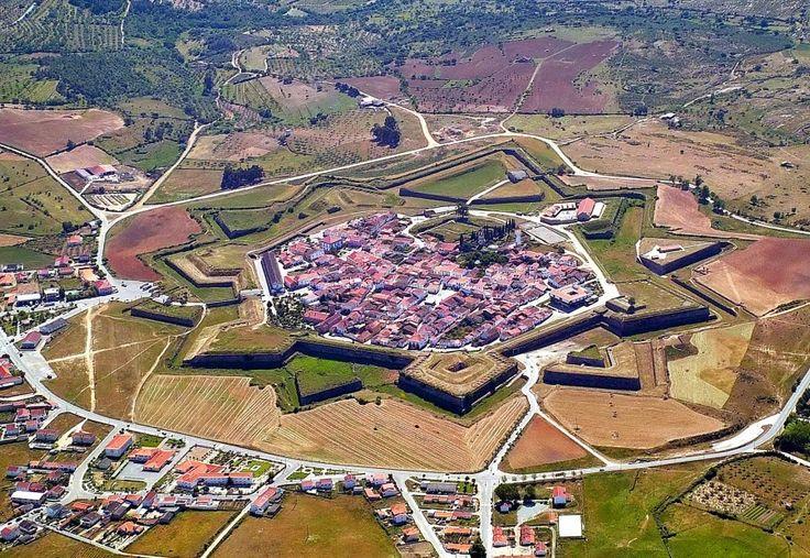 Almeida, Portugal. Star shaped fortress and village near Spanish border.