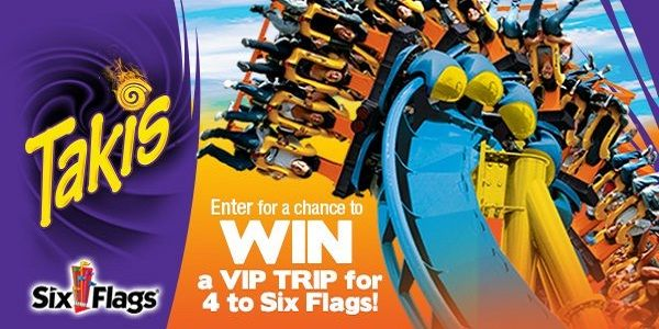 Www Sixflags Com Takis This Summer Get Ready To Win Free Trip To Your Choice Of Six Flags Theme Park Plus A Month Supply Of Free T Trip Sweepstakes Six Flags