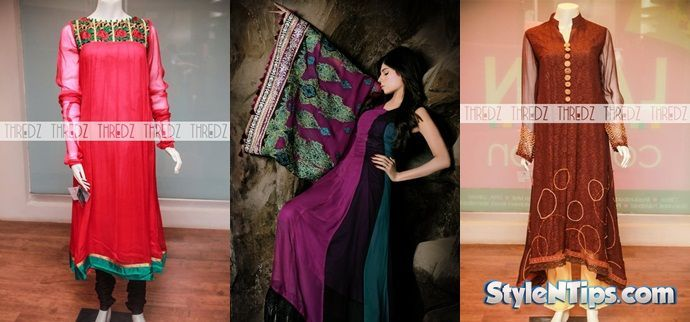 Frock Designs Latest Collection 2014-2015 For Girls