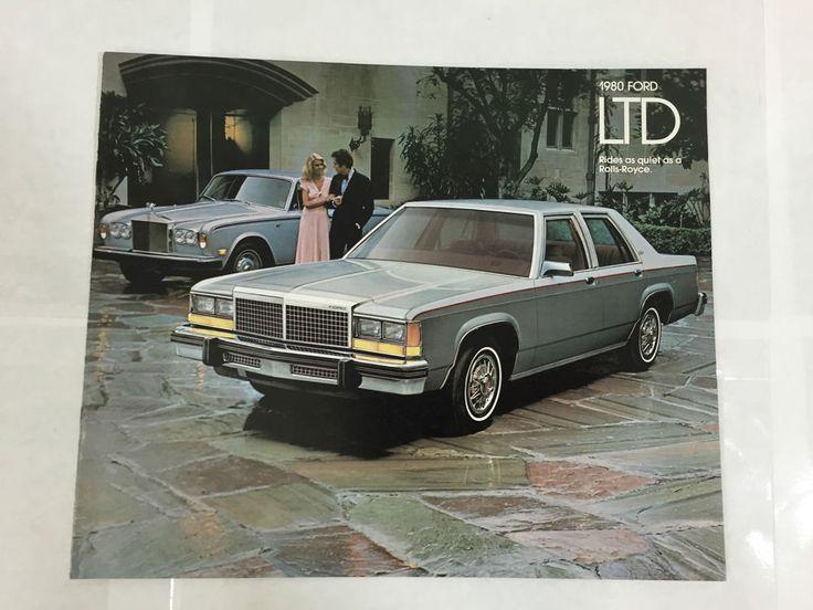 VINTAGE 1980 FORD LTD CATALOG BROCHURE BOOKLET AUTOMOBILE ADVERTISING
