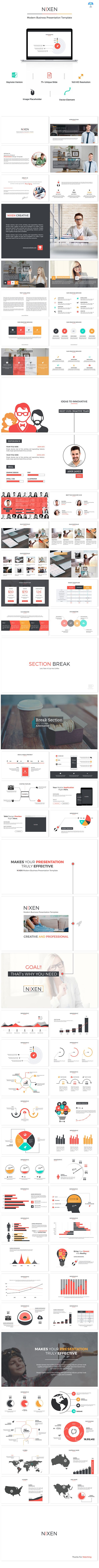 Nixen Keynote Presentation Template #design #slides Download: http://graphicriver.net/item/nixen-keynote-presentation/12334834?ref=ksioks