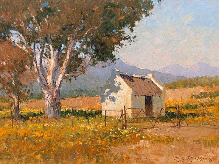 "Roelof Rossouw (SA, born 1957) Oil, ""Skilpad, Namaqualand"", Signed Titled Verso, 57 x 76"