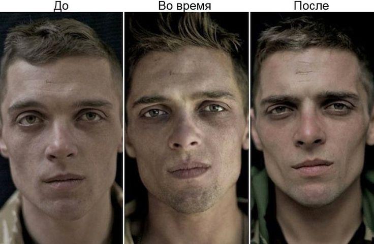Фотографии солдат до и после войны - В мире чудес