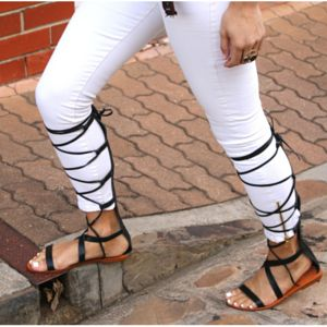 sneakers and pearls, street style, knee high gladiators over jeans for a warmer look, trending now.png
