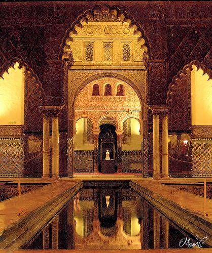 Patio de las Doncellas of the Reales Alcázares in Seville, Spain