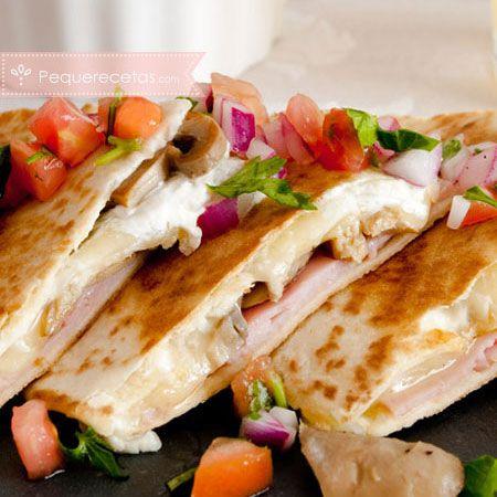Comida mexicana, quesadillas