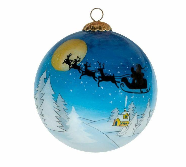 boule de noel peinte main christmas boules d cor es. Black Bedroom Furniture Sets. Home Design Ideas