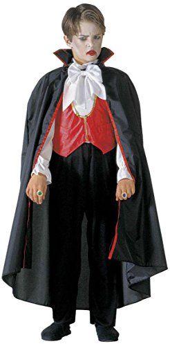 Este disfraz de Drácula para niño consta de un mono, una chaleco y una capa (joyas y zapatos no incluidos. El mono es de manga larga y es de color blanco #halloween #halloween2014