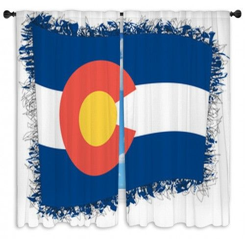 Flag Of Colorado Vector Illustration Of A Stylized Flag Custom Size Window Curtains     Colorado is one of the best states to live and vacation.  The mountains are everyones best friend!      |Colorado home decor || Colorado flag art || Colorado decor || Colorado || Colorado flag diy || Colorado decor diy |    https://www.visionbedding.com/flag-of-colorado-vector-illustration-of-a-stylized-flag-custom-size-window-curtains