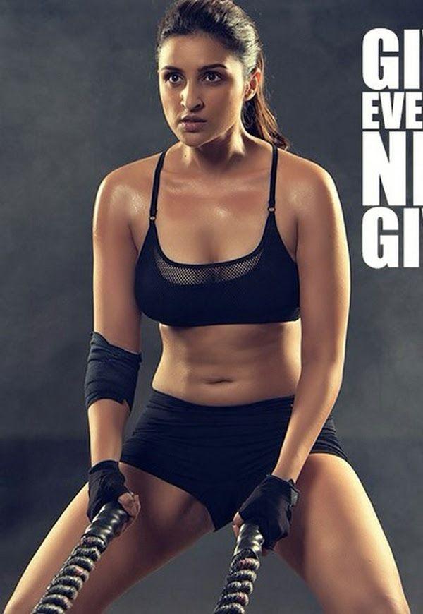 Parineeti Chopra latest hot gym workout photo shoot Hd Image Gallery 6