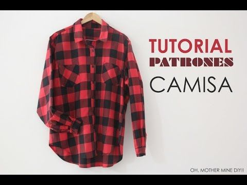 Tutorial y Patrones de Camisa Oversize Mujer - YouTube