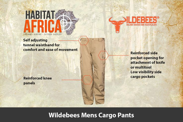 The Wildebees Mens Cargo Pants are made from a stretch rip-stop fabric for…