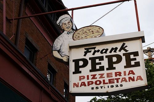 Best pizza. Pepe's. New Haven, Connecticut. (1992)