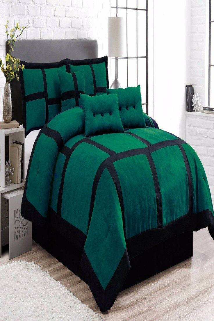 Pin By Zach Hoyer On Green Bedding Comforter Sets Green Bedding Queen Comforter Sets