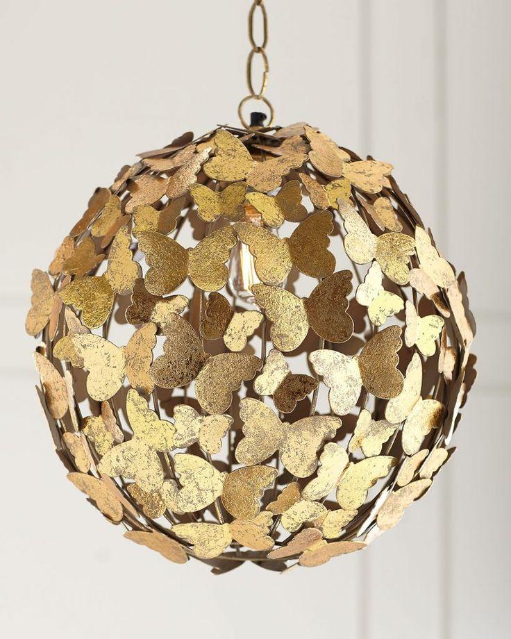 Brass Butterfly Pendant - so cute in nursery!