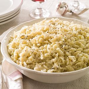 In this German-inspired spaetzle recipe, whole-grain mustard adds zesty flavor to these homemade egg noodles. Serve these little dumplings with...
