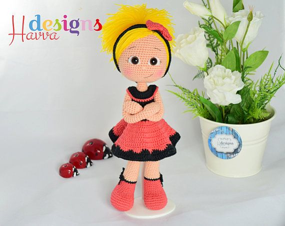 ◆❤ Welcome to Havva Designs Patterns Store ❤◆  ❥ This listing is for an amigurumi pattern, not the finished toy. ❥ Crochet pattern in pdf format,