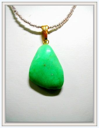AAAAclass Brazilan Natural Chrysophrase pendant Btype   About length about 2.8㎝ width of about 1.8㎝ thickness 7mm  Atelier Original with choker☆   Free Shipping ☆ price ¥ 9800⇒ transfer deals ¥ 6700!    http://godsgiftcave.jimdo.com/limited-merchandise/