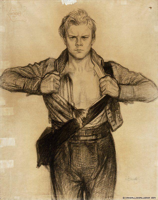 "Albert Edelfelt (1854-1905) The Wounded Soldier from the Poem Döbeln at Jutas 1897-1900 - Finland ... ""The Battle of Jutas (Fi: Juuttaan taistelu, Sv: Slaget vid Jutas) was fought on September 13, 1808 between Swedish and Russian troops south of Nykarleby in Ostrobothnia, Finland."""