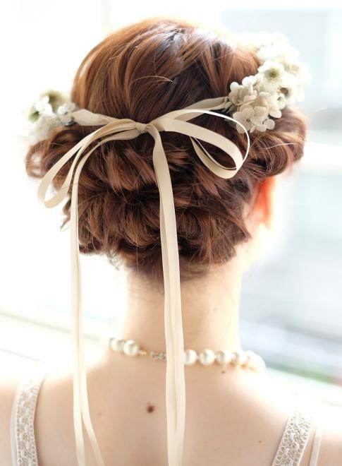 憧れのジューン・ブライド♡可憐な花嫁に似合うブライダルヘアスタイルの12枚目の写真