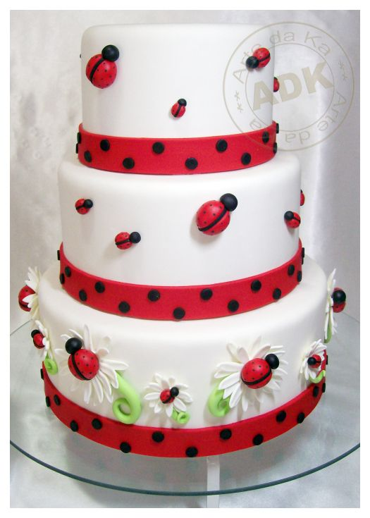 ❤ Cute little ladybug cake that would be perfect for that fancy tea party Miss…