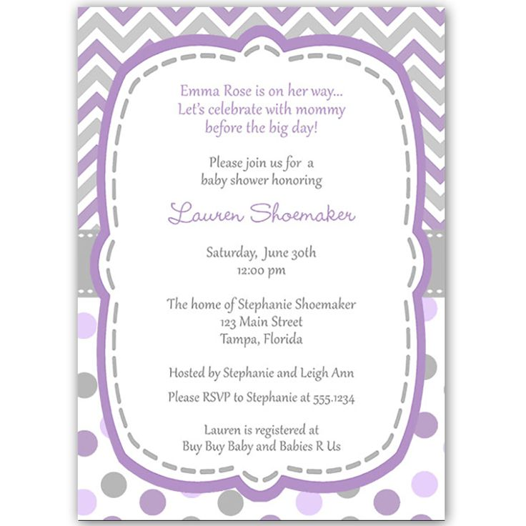 58 best Chevron Baby Shower Ideas images on Pinterest Babies - baby shower invitation letter