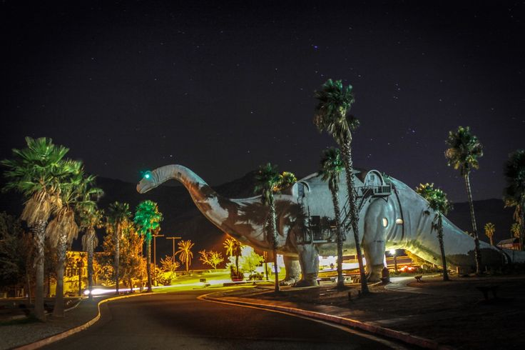 Cabazon Dinosaurs, formerly Claude Bell's Dinosaurs, is a roadside attraction in Cabazon, Californi