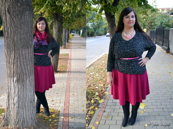 Breast cancer awarness month outfit #pinkoutfit #lovelywholesale #outfit #fashionblogger   ->http://o-fata-simpla.blogspot.ro/2014/10/think-pink.html