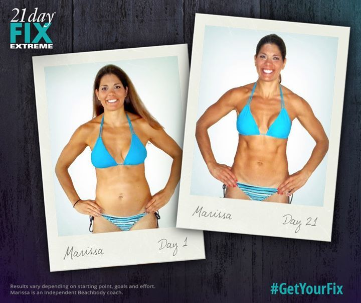 21 Day Fix Extreme results! Marissa M. lost 6 pounds and 11 inches in 21 days with EXTREME. Learn more here: http://www.onesteptoweightloss.com/21-day-fix-vs-21-day-fix-extreme #15LBWeightLoss