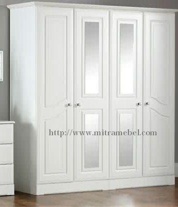 Lemari Pakaian Minimalis Nicole Cat duco Putih mitra mebel jepara menjual berbagai macam produk furniture lemari pakaian. diantaranya lemari pakaian minimalis 4 pintu dan masih banyak lainnya