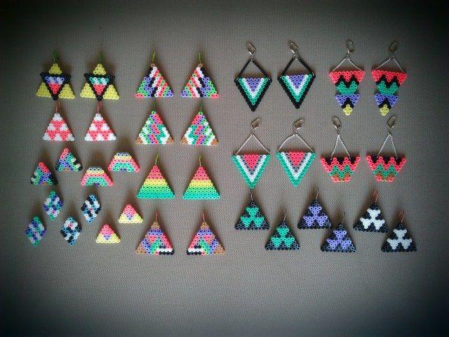 Earrings hama beads by Olivia de Bona Truc & Toc