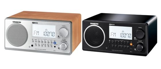 Sangean WR-2 Alarm Clock Radio Black | The Listening Post Christchurch and Wellington |