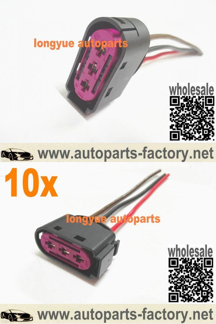 longyue 10pcs 3 way/pin OEM Fuse Box Connector Plug 1J0 937 773 case