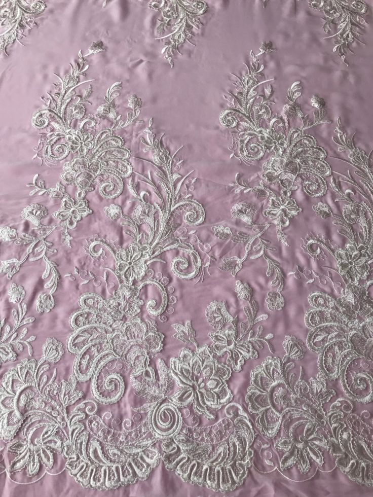 Ivory Georgette Lace - Passion