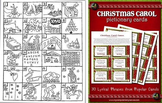 Christmas Carol Printable: FREE PRINTABLES