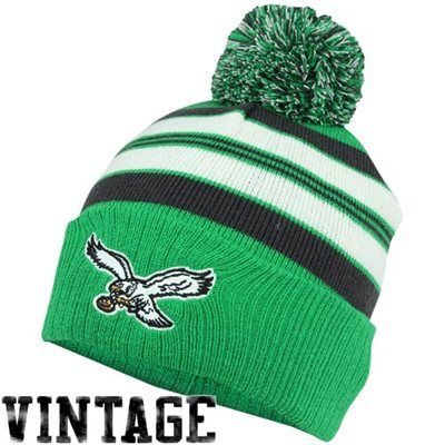 Philadelphia Eagles Youth Retro Cuffed Knit Hat - Green