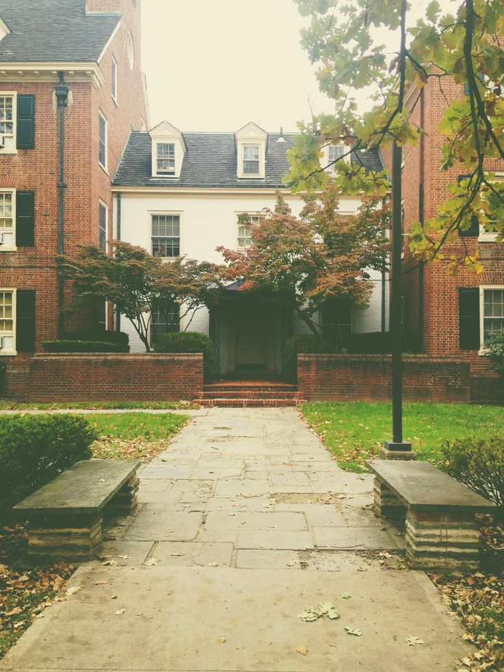 Symmes Hall at Miami University in the fall. Perfect college setting