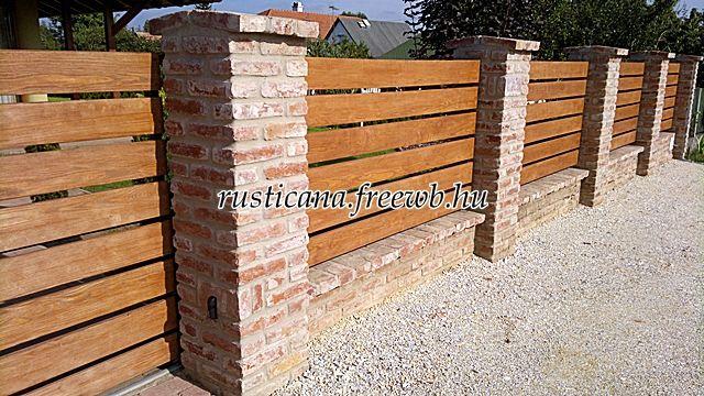 bontott tégla kerítés - Demolished brick fence