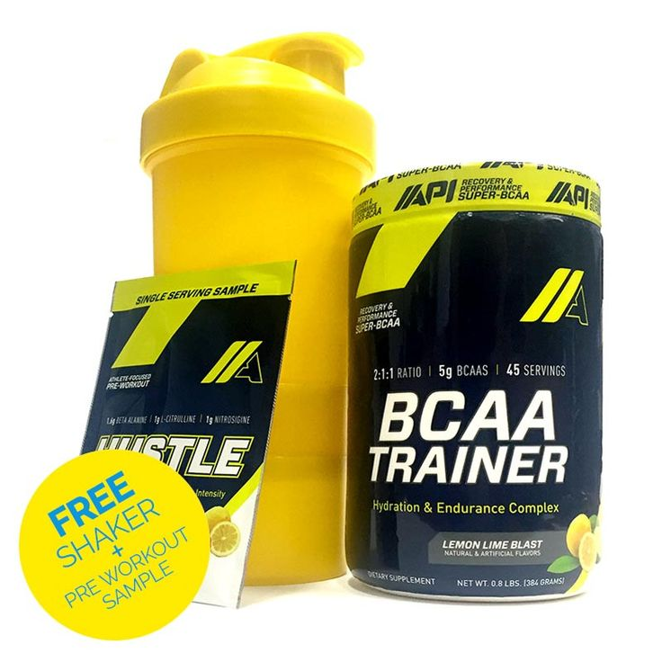 API BCAA Trainer + Free Shaker + Pre Workout sample - Second To None Nutrition