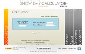 Clutter-Free Classroom: What Are the Chances You'll Have a Snow Day Tomorrow? {Snow Day Calculator for School Closings}