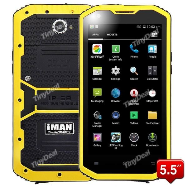 "Presell IMAN I8800 5.5"" IPS HD MSM8916 4-core Android Unlocked 3G Phone IP68 Waterproof Dust Proof Rugged 4G Phone P084-IMI8800"