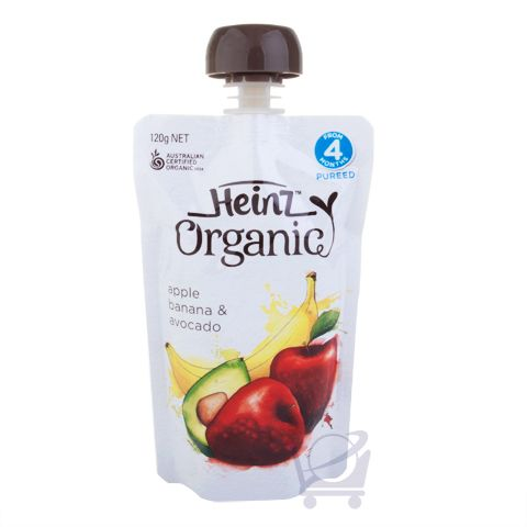Organic Apple, Banana & Avocado Baby Food 4 Mths Plus – Heinz 120g | Shop Australia