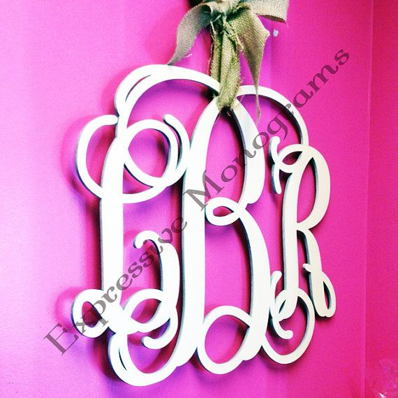 24+INCH+Wood+Monogram+Letter+-+Great+for+Wedding,+Door+and+Wall+Decor+-+Free+Preview-+Unpainted,+$27.50