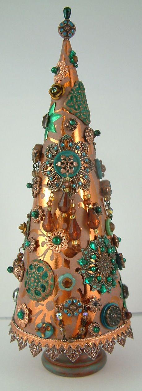 Artfully Musing: Jeweled Trees – Tutorial