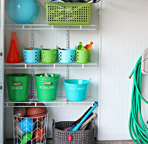 In a Small Space Go Vertical. Organizing Tips from I Heart Organizing