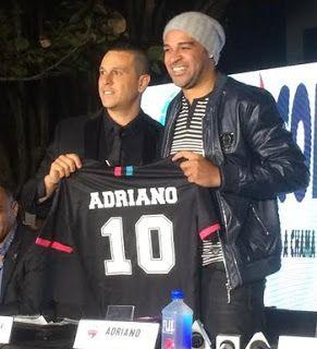 Blog Esportivo do Suíço:  Com atraso, Miami United apresenta Adriano e fala em início de nova era