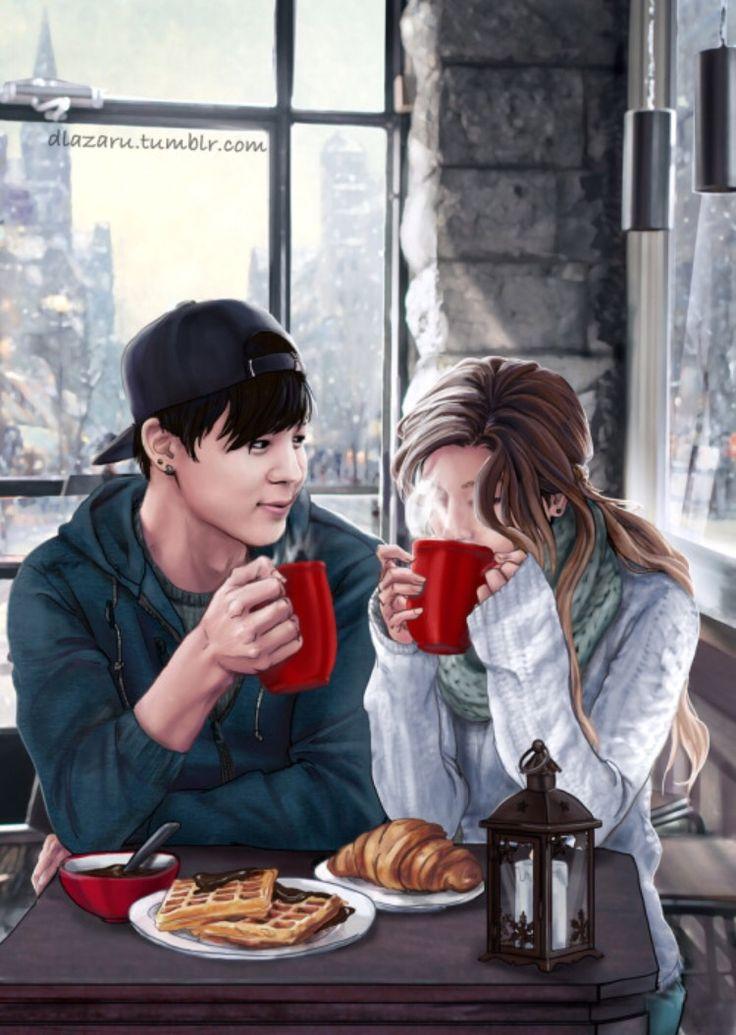 BTS Girlfriend Fan Art - Jimin