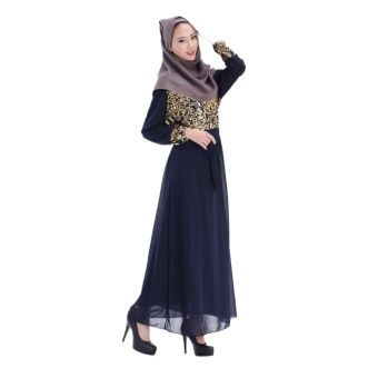 San Jam Ethnic Wear Double Layer Surper Thin Chiffon Long Dress Muslim Clothes with Long Sleeve Sunday Clothing(Blue ZQ) Fabric hiffon Type ouble layer Size ree Chest 2cm Shoulder 8cm Sleeve lenght 5cm Clothes length 42cm Weight .45KG ... #bajukurung #bajukurungmoden
