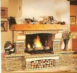 M s de 10 ideas incre bles sobre chimenea de ladrillo en - Chimeneas rusticas de ladrillo ...
