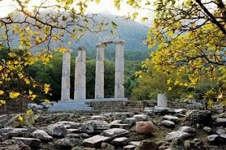 Samothrace is a Greek island in the Aegean and was known for its mystery cults. It is said to have been a place where the Amazons settled. They were said to have set up altars and shrines to the Goddess.